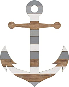 Collins Large Wooden Anchor Wall Sculpture