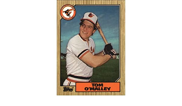 Amazoncom 1987 Topps Tiffany Baseball Card 154 Tom Omalley Near