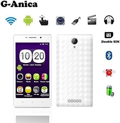 G de Anica 12.7 cm (5 pulgadas) de Phablet Smartphone sin Contrato & # xff08; Android 4.4.2, Dual Core, 540 x 960, WiFi, Dual SIM, Bluetooth, 512 MB RAM, 4 GB & #