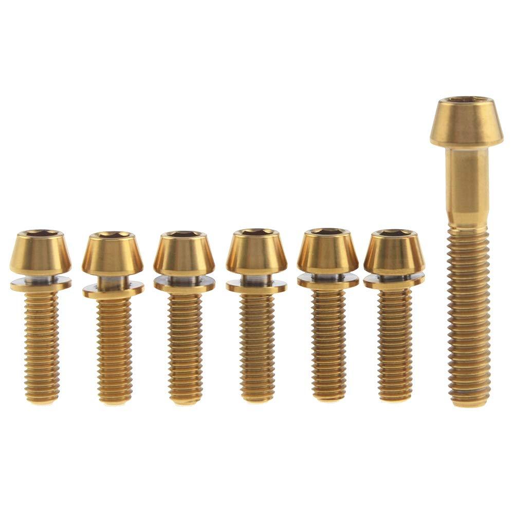 Yaruijia Titanschraube M6 x 35 mm 1 St/ück und M5 x 16 18 20 mm Ti Schrauben mit Unterlegscheibe f/ür Fahrradbremse 6 St/ück