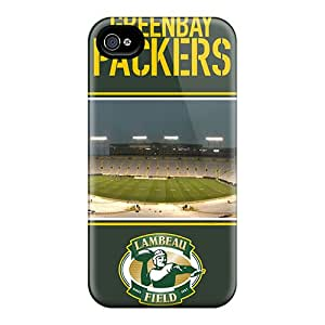 Scratch Protection Hard Cell-phone Cases For Iphone 4/4s With Custom HD Green Bay Packers Series PhilHolmes