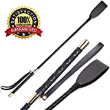 Quality Fine Leather Braided 24 Inches Long Riding Crop/Whip