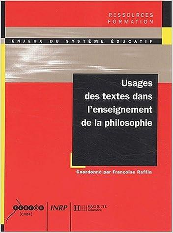 Téléchargement gratuit d'ebooks en anglais Usages des textes dans l'enseignement de la philosophie PDF MOBI