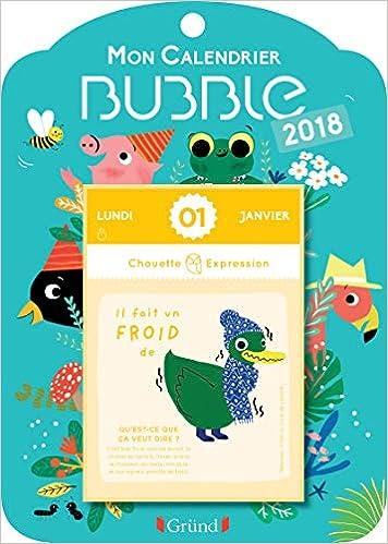 Mon Calendrier Fr.Mon Calendrier Bubble 2018 Amazon Fr Marie Paruit Livres