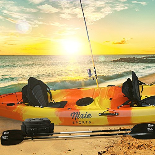 Nixie sports 13ft sit on top tandem fishing kayak with for Best tandem fishing kayak