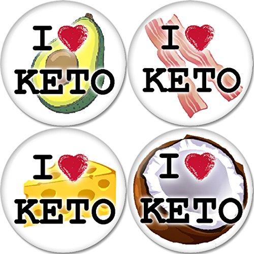 I LOVE KETO,Ketogenic diet Pinback 1.25 Inch (32mm)