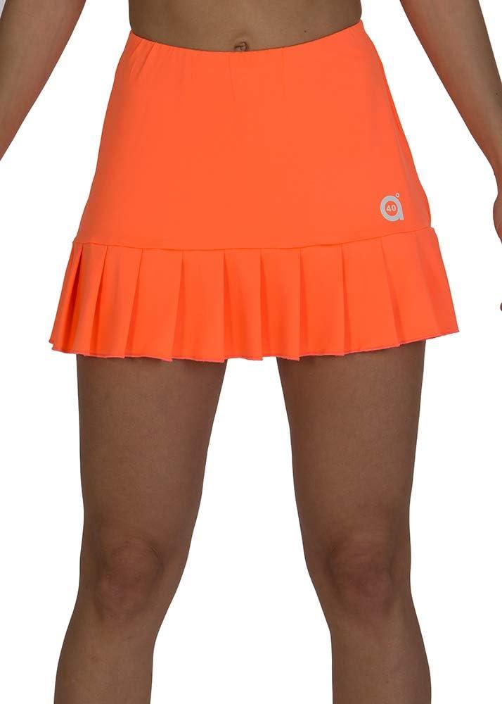 a40grados Sport & Style, Falda Flip Naranja, Mujer, Tenis y Padel ...