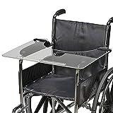 DMI Wheelchair Tray, Clear Acrylic Wheelchair Lap Tray