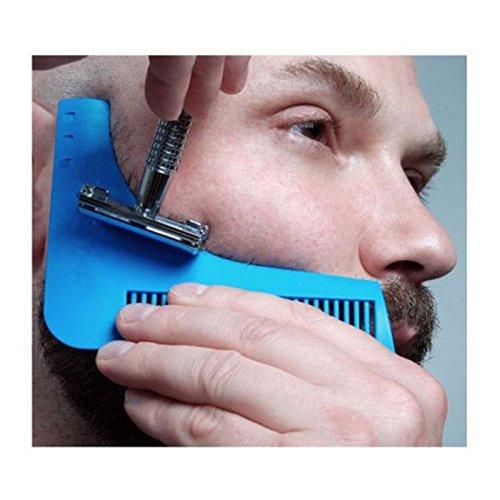 Beard Bro Beard Shaping Tool Sex Man Gentleman Beard Trim Template hair cut hair molding trim template beard modelling tools (Blue)