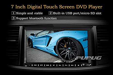 Amazon.com: EinCar Universal 7-Inch Digital Touch Screen Head Unit 2Din Car DVD Player GPS Navigator Remote Control Stereo 8GB Car GPS in Dash Car DVD ...