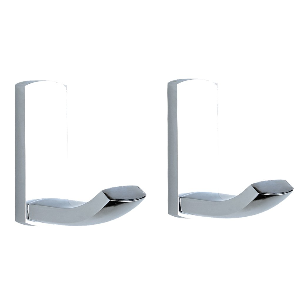 BigBig Home Brass Bath Towel Hooks Super Heavy Duty Wall Mount Chrome Finish Hook, Fit for Bedroom,Living room, Bathroom and Fitting room, Office, Set of 2 in pack.