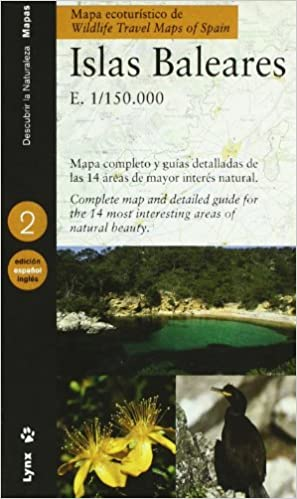 Wildlife Travel Map of Spain Balearic Islands Eco Tourist Maps