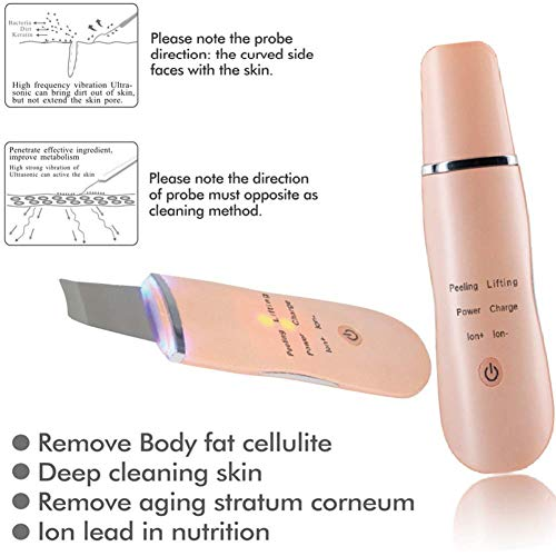 Skin Scrubber Peeling Massage Device, Blackhead Removal Pores Cleanser Exfoliator Rechargeable by HHYGR (Image #5)