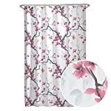 MAYTEX Cherrywood Blossom Fabric Shower Curtain, Multi Floral, 70 inches x 72 inches