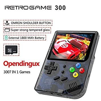 Anbernic 2019 Upgraded Opening Linux Tony System Handheld Game Console ,  Retro Game Console with 32G TF Card Built in 3007 Classic Games, Portable