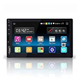 Yody Android 6.0 Double Din Car Stereo Capacitive Touch Screen Support GPS Navigation WIFI Bluetooth Mirror Link 1080P SD USB AUX-IN OBD AM FM Radio with Free Backup Camera + Microphone