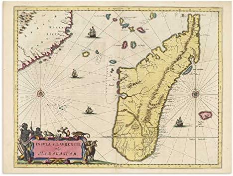 Amazon.com: The Blaeu Prints | Madagascar, Madagascar - Historical ...