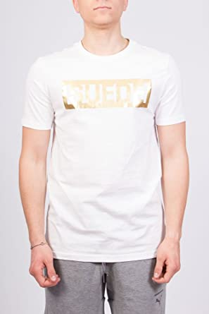 9f08138d32e2 Puma T-Shirt - Suede White Gold Size  L (Large)  Amazon.co.uk  Clothing