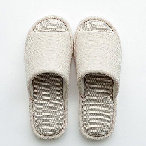 zzhf Zapatillas de lino con la casa para los Couples Zapatillas de del interior de la casa de verano para mujer zapatillas de suelo (madera y a la verano (4colores en option) (talla facultative) Zapa A
