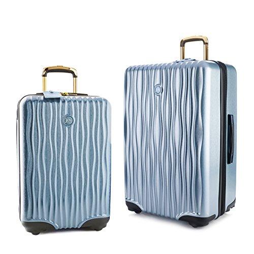 Joy Mangano Hardside Medium Luggage (Carry-on) and Xl Luggage Combo, Steel Blue