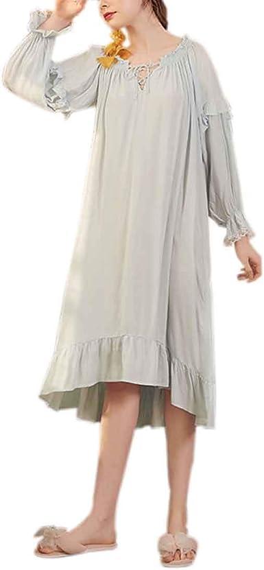 CX-Store Camisón De Algodón para Mujer Camisón Victoriano Camisón ...