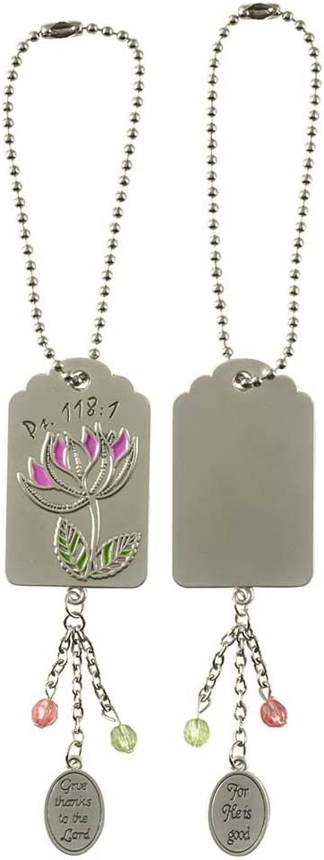Dicksons Give Thanks to The Lord Silver Toned 7 inch Zinc Alloy Mirror Charm