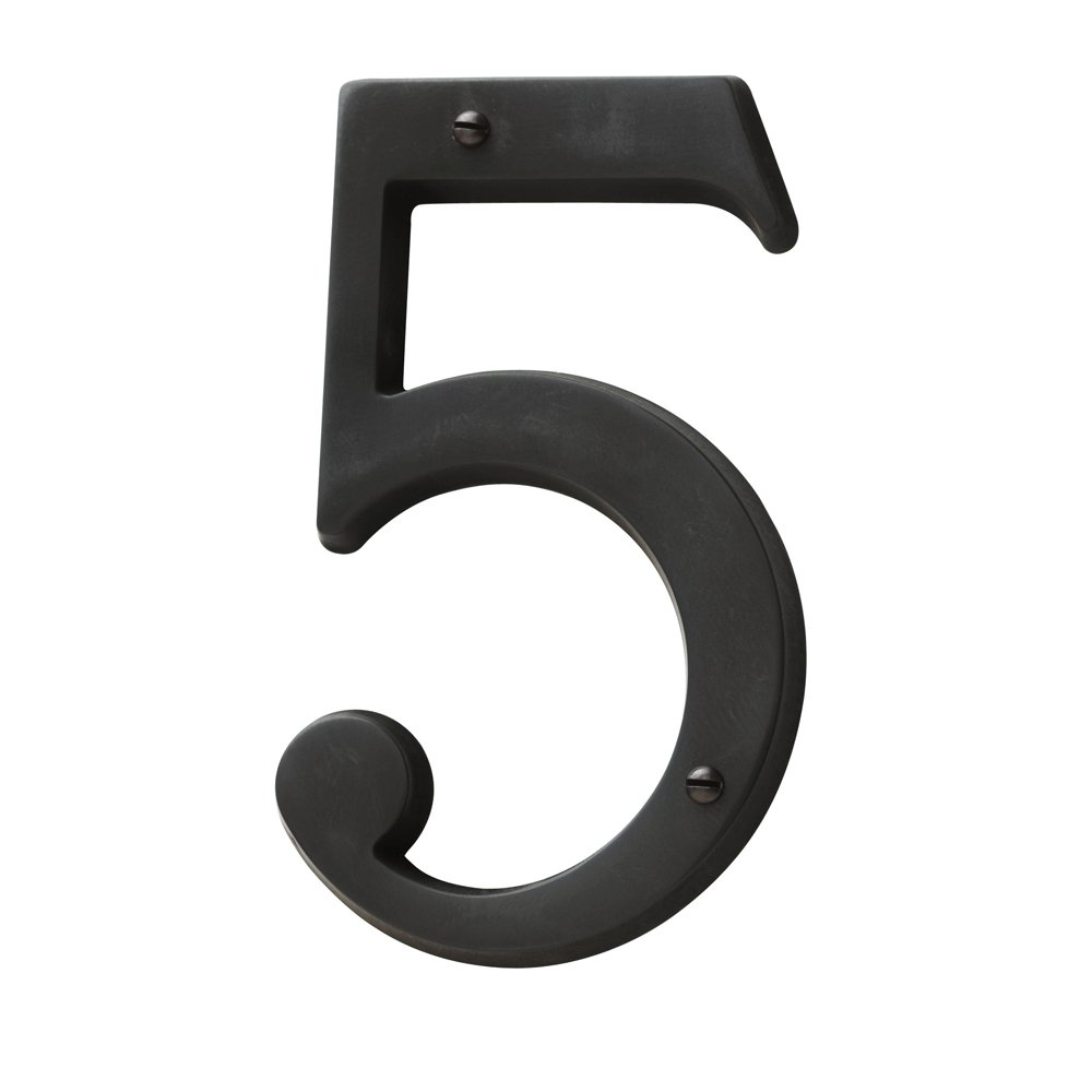 Baldwin Estate 90675.102.CD Solid Brass Traditional House Number Five in Oil Rubbed Bronze, 4.75''