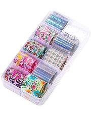 1 Box Starry Sky Nail Foil Sticker Candy Färg Nail Shimmer Transfer Klistermärke Manikyr Dekorationer Holografiska Nail Paper Dekaler
