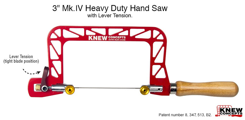 Knew Concepts 3'' Mk.IV Heavy Duty Hand Saw with Lever Tension