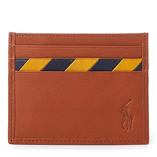 (Polo Ralph Lauren Striped Leather Card Case)