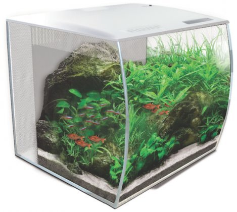 Fluval FLEX 34L 9 Gallon Nano Glass Aquarium Kit (White)