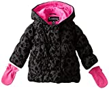 Rothschild Baby Girls Flocked Rose Jacket, Black, 18 Months