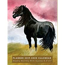 "Planner 2019-2020 Calendar, Weekly & Monthly 8.5""X11"": Horses Weekly Planner, 2019-2020 Planner: Weekly and Monthly Calendars & Planners for Teachers, Student Academic Calendar, Schedule, Organizer, Journal, Notebook  