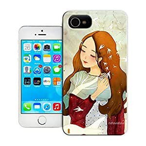 Unique Phone Case Watercolor girl#16 Hard Cover for 5.5 inches iphone 6 plus cases-buythecase
