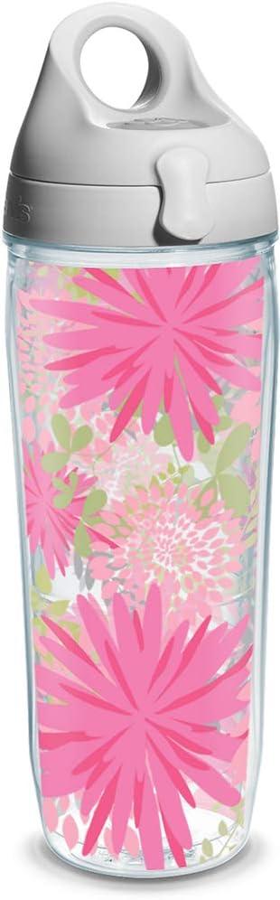 Tervis Water Bottle, Molly Z Pink Flowers Wrap