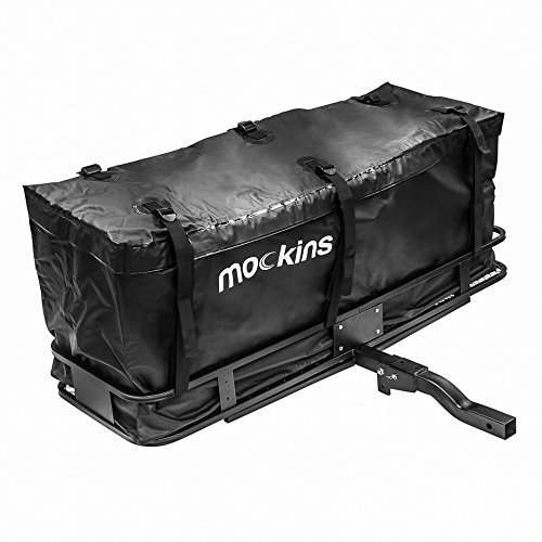 mockins Hitch Mount Cargo Carrier And Cargo Bag |The Steel Cargo Basket Is 60 Long X 20 Wide X 6 Tall With A Hauling Weight Of 500 Lbs And A Folding Shank To Preserve Space When Not In Use