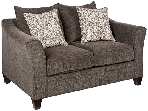 Simmons Upholstery 6485-02 Albany Loveseat, Pewter