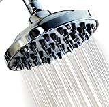 WantBa 6 Inches (57Jets) Massage Rainfall High Pressure Disassembly Capacity Shower Head Powerful Rain Spray Showerhead