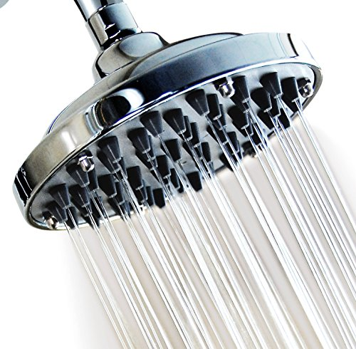 WantBa 6 Inches (57Jets) Massage Rainfall High Pressure Disassembly Capacity Shower Head (Shower Nozzle)