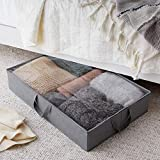 AmazonBasics Fabric Under Bed Storage Bag Organzier with Handles