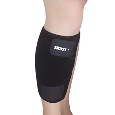 7d94c2df21 Mcolics Calf Compression Sleeve Brace - Best Adjustable Neoprene Shin  Splints Leg Compression Wrap Support for