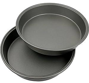 "Estilo Oven Non-Stick Round Cake Pan 9.75"" Inch Diameter - 2 pack"