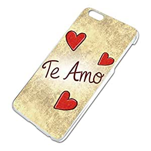 Te Amo Handwritten Slim Fit Hard Case Fits Apple iPhone 6 Plus