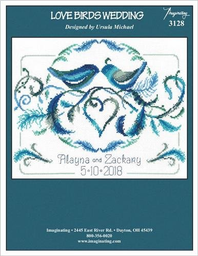 (Love Birds Wedding Cross Stitch Chart and Free)