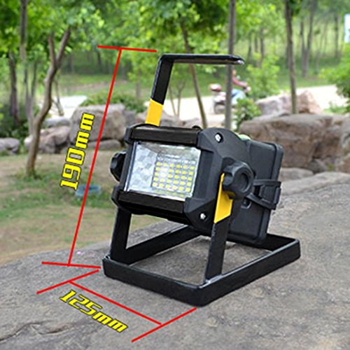 Led Flood Light, Napoo Portable 50W 36 LED Waterproof Rechargeable Worklight Spot Work Lamp Emergency Light For Outdoor Camping, Working, Fishing by Napoo (Image #1)