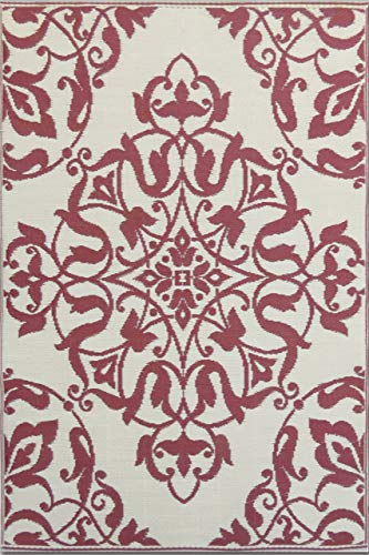 (Mad Mats® FM-NWR46-DR1 Outdoor Rug, 4' x 6', Dark Red)