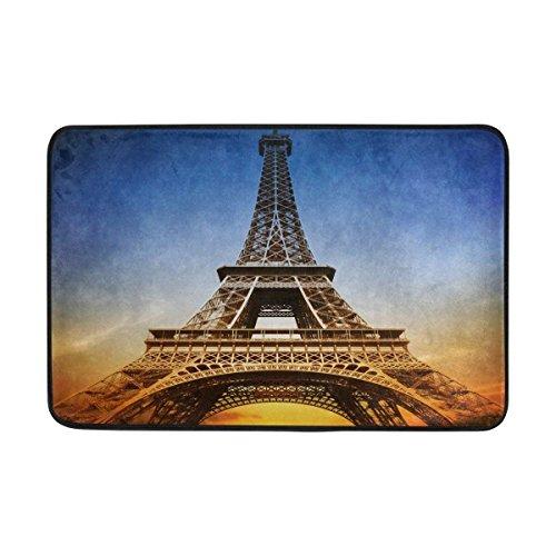 """Bikini bag Eiffel Tower with Sunset Doormats Entrance Mat Floor Mat Door Mat Rug Indoor/Outdoor/Front Door/Bathroom Mats Non Slip 23.6""""x15.7"""",L x W"""