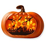 National Tree 3D Orange LED Pumpkin