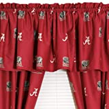 NCAA Alabama Crimson Tide Collegiate Long Drapes-Valance Set