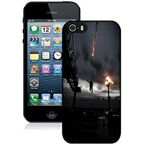 NEW Unique Custom Designed iPhone 5S Phone Case With Infamous Smoke Ability Jump City_Black Phone Case